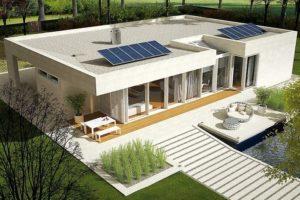 Diseño de Casa Prefabricada EX 6 con techo blando