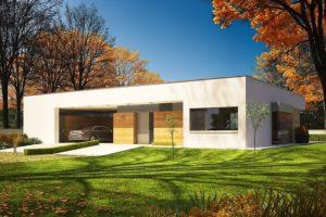 Diseño de la casa EX 7 con techo blando