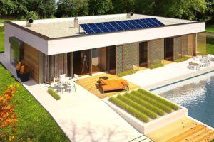 Diseño de la Casa Prefabricada EX 7 con refugio Energo Plus