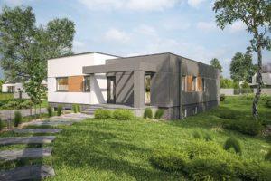El diseño de la Casa Prefabricada restringida - opción I (sótano) - C340